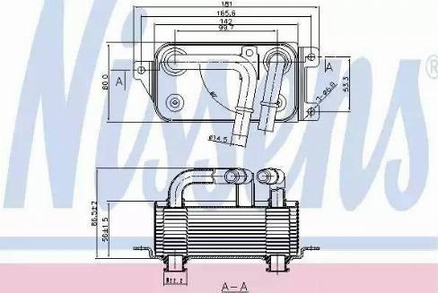Nissens 90623 - Масляный радиатор, автоматическая коробка передач mavto.com.ua