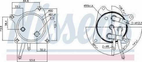 Nissens 91119 - Масляный радиатор, автоматическая коробка передач mavto.com.ua