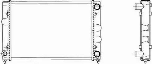 NRF 509505 - Радиатор, охлаждение двигателя mavto.com.ua