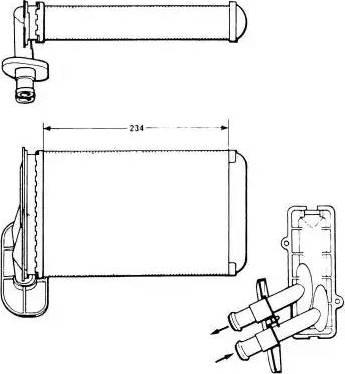 NRF 58622 - Теплообменник, отопление салона mavto.com.ua