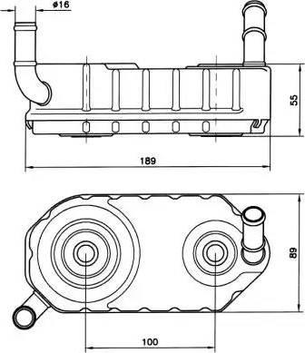 NRF 31004A - Масляный радиатор, автоматическая коробка передач mavto.com.ua