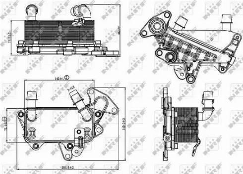 NRF 31264 - Масляный радиатор, автоматическая коробка передач mavto.com.ua
