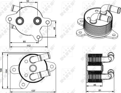 NRF 31750 - Масляный радиатор, автоматическая коробка передач mavto.com.ua