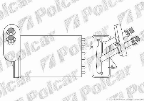 Polcar 9541N81 - Теплообменник, отопление салона mavto.com.ua