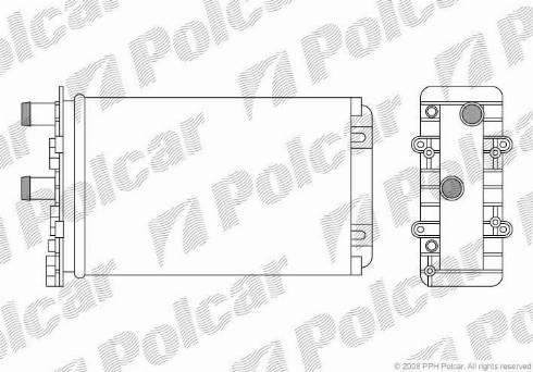 Polcar 9566N8-4 - Теплообменник, отопление салона mavto.com.ua