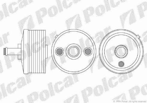 Polcar 9513L8-2 - Масляный радиатор, автоматическая коробка передач mavto.com.ua