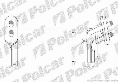 Polcar 9534N81 - Теплообменник, отопление салона mavto.com.ua