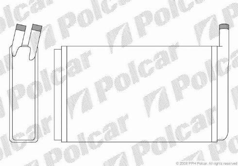 Polcar 9532N8-1 - Теплообменник, отопление салона mavto.com.ua