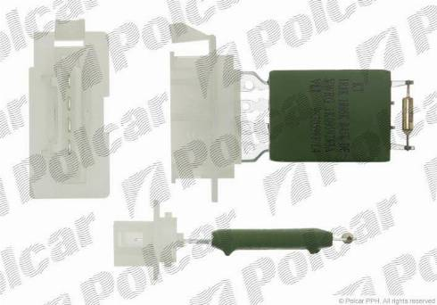 Polcar 9578KST-1 - Сопротивление, реле, вентилятор салона mavto.com.ua