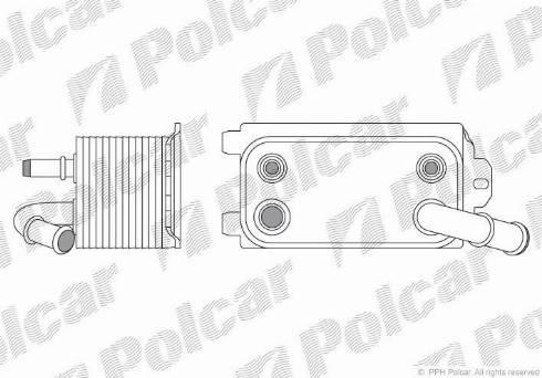 Polcar 9071L8-1 - Масляный радиатор, автоматическая коробка передач mavto.com.ua