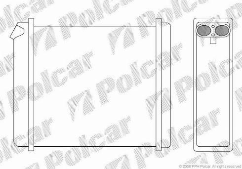 Polcar 5514N8-2 - Теплообменник, отопление салона mavto.com.ua