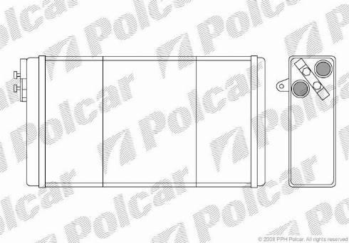 Polcar 5525N8-1 - Теплообменник, отопление салона mavto.com.ua