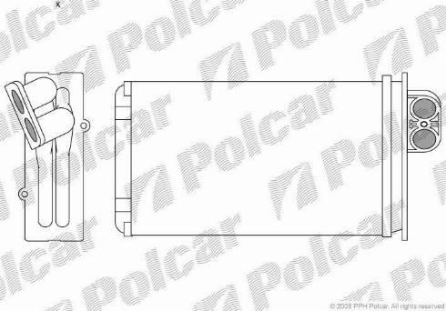Polcar 5745N81X - Теплообменник, отопление салона mavto.com.ua