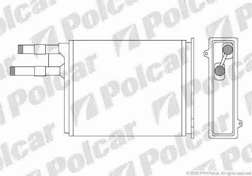 Polcar 5702N8-1 - Теплообменник, отопление салона mavto.com.ua