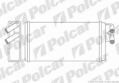 Polcar 1315N8-1 - Теплообменник, отопление салона mavto.com.ua