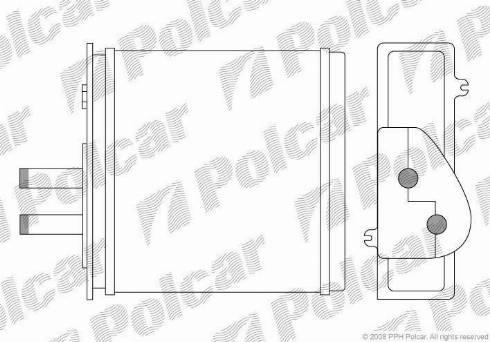 Polcar 3017N8-1 - Теплообменник, отопление салона mavto.com.ua