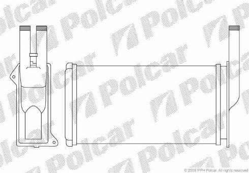 Polcar 3214N81 - Теплообменник, отопление салона mavto.com.ua