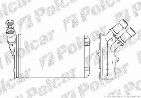 Polcar 2324N8-1 - Теплообменник, отопление салона mavto.com.ua