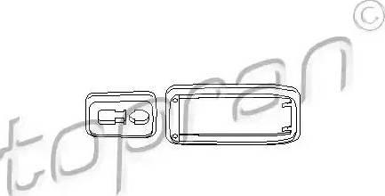 Topran 112 284 - Рама ручки двери mavto.com.ua