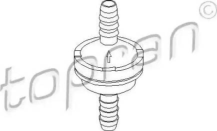 Topran 206111 - Клапан, усилитель тормозного механизма mavto.com.ua