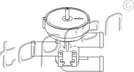 Topran 206241 - Регулирующий клапан охлаждающей жидкости mavto.com.ua