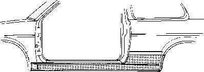 Van Wezel 5812101 - Подножка, накладка порога mavto.com.ua