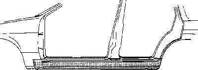 Van Wezel 1828103 - Подножка, накладка порога mavto.com.ua