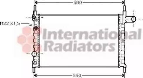 Ava Quality Cooling OL 2150 - Радиатор, охлаждение двигателя mavto.com.ua