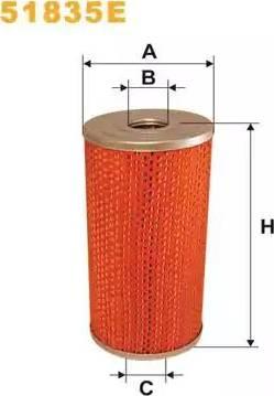 WIX Filters 51835E - Фильтр, Гидравлическая система привода рабочего оборудования mavto.com.ua