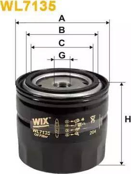 WIX Filters WL7135 - Фильтр, Гидравлическая система привода рабочего оборудования mavto.com.ua